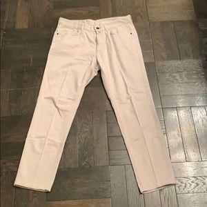 Zara Men's Beige Skinny Textured Jeans size 32